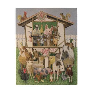 Animal Playhouse Wood Wall Art