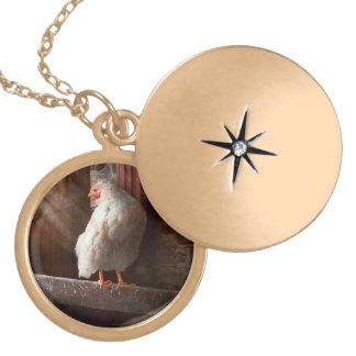 Animal - pollo - perdido en pensamiento colgante personalizado