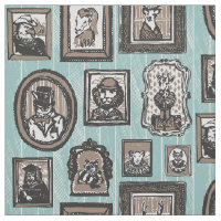 Animal Portraits Print Fabric