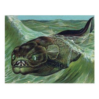 Animal prehistórico de Dinicthys Postales