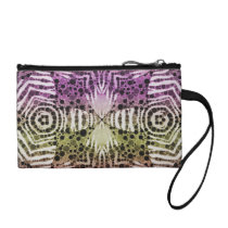 Animal Print Abstract Coin Clutch Bag