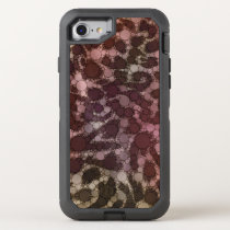 Animal Print Abstract OtterBox Defender iPhone 8/7 Case