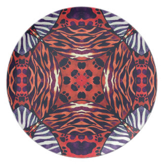 Animal Print Abstract Pattern Dinner Plates