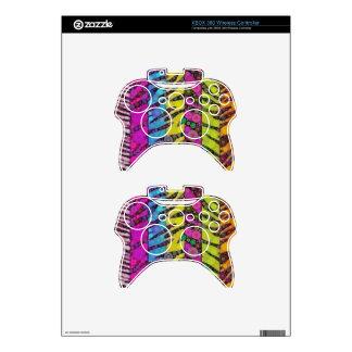 Animal Print Abstract Xbox 360 Controller Skin
