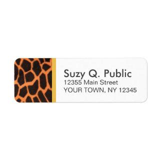 Animal Print Address Label