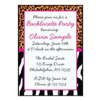 Animal Print Bachlorette Invitation