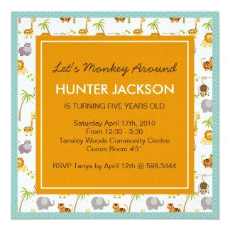 Animal Print Birthday Party Invitation