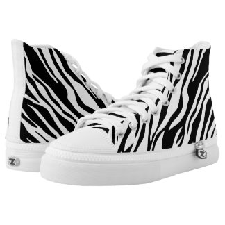 Animal print black and white High-Top sneakers