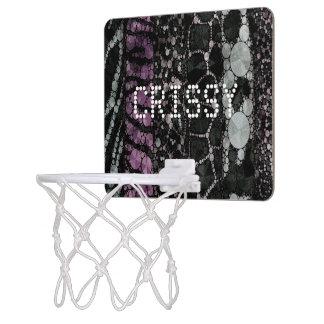 Animal Print Bling Custom Mini Basketball Hoops