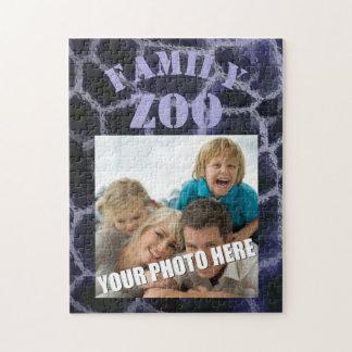 Animal Print Blue Jigsaw Puzzle