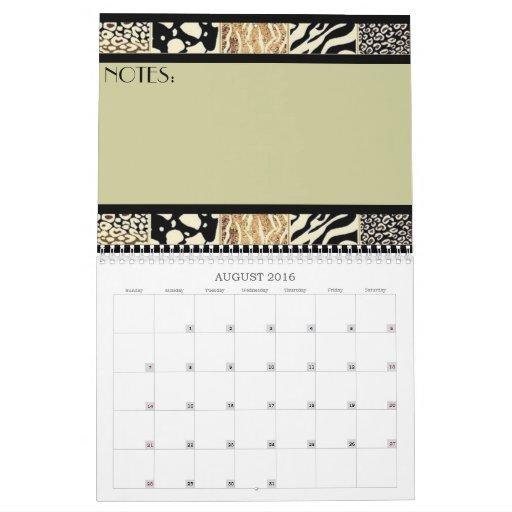 Animal Print Border Calendar