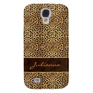 Animal Print Cheetah in Natural Hues Samsung Galaxy S4 Cover