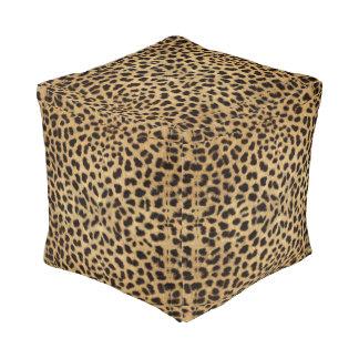 Animal Print Cheetah Cube Pouf