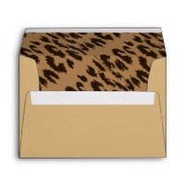 Animal Print ,Cheetah Print Envelopes Tan & Brown