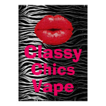 Animal Print Classy Chics Vape Premium Poster