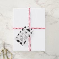 Animal Print, Cow Pattern, Cow Spots - White Black Gift Tags