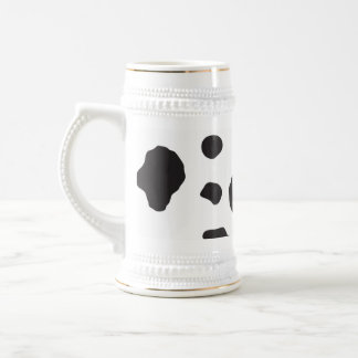 Animal Print (Cow Print), Cow Spots - White Black Beer Stein