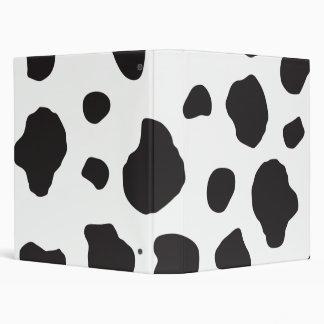 Animal Print Cow Print Cow Spots - White Black Binders
