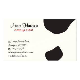 Animal Print (Cow Print), Cow Spots - White Black Business Cards