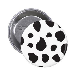 Animal Print (Cow Print), Cow Spots - White Black Button