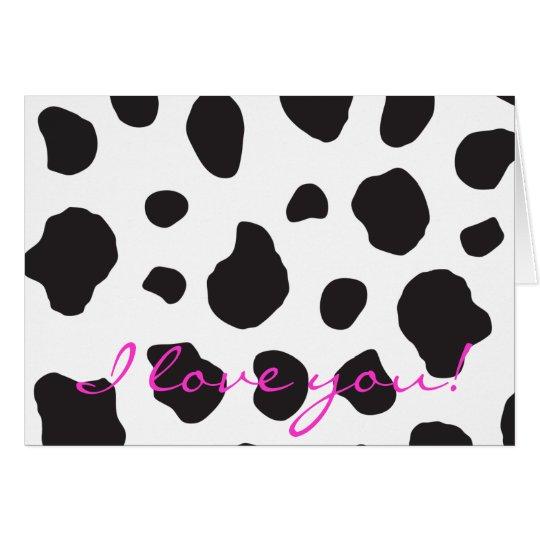 Animal Print (Cow Print), Cow Spots - White Black Card