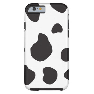 Animal Print (Cow Print), Cow Spots - White Black iPhone 6 Case