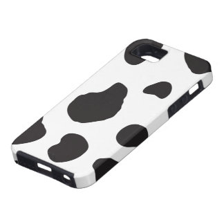 Animal Print (Cow Print), Cow Spots - White Black iPhone 5 Cover