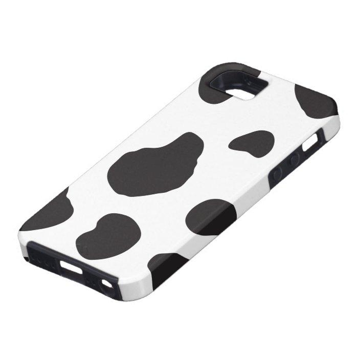 Animal Print (Cow Print), Cow Spots - White Black iPhone SE/5/5s Case