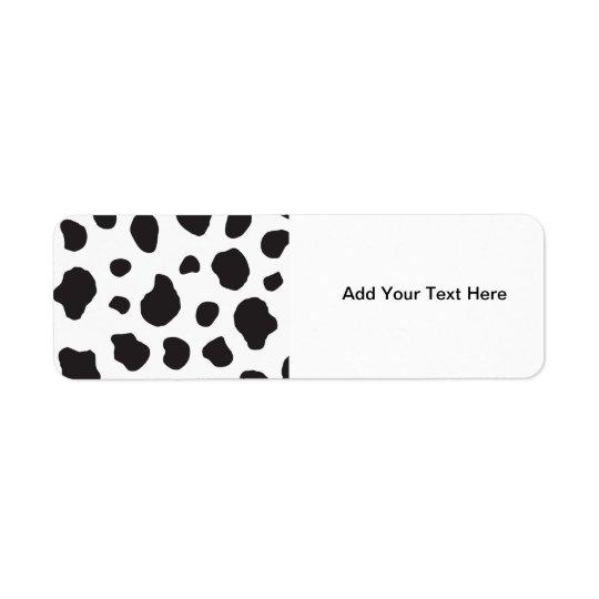 Animal Print (Cow Print), Cow Spots - White Black Label