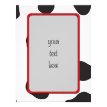 Animal Print (Cow Print), Cow Spots - White Black Letterhead