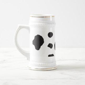 Animal Print (Cow Print), Cow Spots - White Black 18 Oz Beer Stein