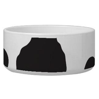 Animal Print (Cow Print), Cow Spots - White Black Dog Water Bowls