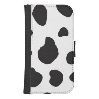 Animal Print (Cow Print), Cow Spots - White Black Phone Wallet