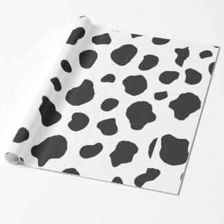 Animal Print (Cow Print), Cow Spots - White Black Wrapping Paper