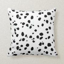 Animal Print Dalmation Throw Pillow