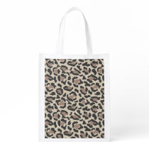 Animal print design grocery bag