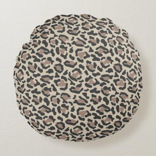Round Animal Pillows : Animal print design round pillow Zazzle