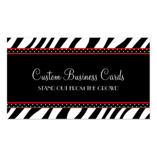 Animal Print Dot Business Card Templates