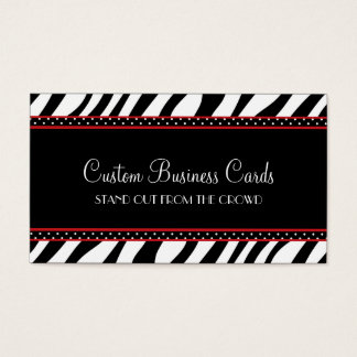Animal Print Dot Business Card