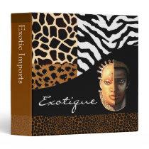 Animal Print Exotic Collage Designer Kwanzaa Binder
