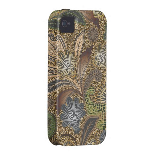 Animal Print Floral Paisley Vibe iPhone 4 Covers