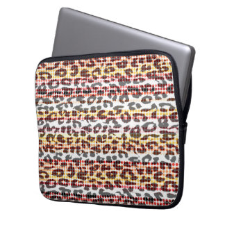 Animal print fur of leopard computer sleeve