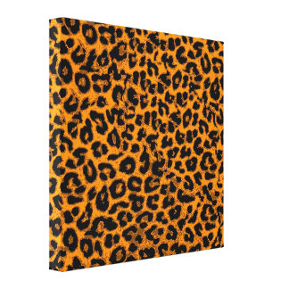 Animal Print Fur Of Leopard (Yellow and Black)