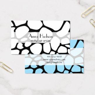 Animal Print (Giraffe Pattern) - Black White Business Card