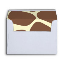 Animal Print (Giraffe Pattern) - Brown Yellow Envelope