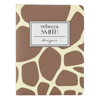 Animal Print (Giraffe Pattern) - Brown Yellow Extra Large Moleskine Notebook Cover With Notebook