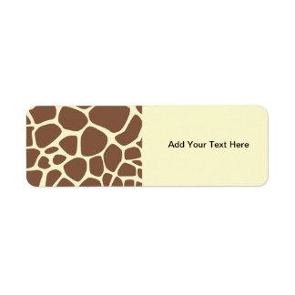 Animal Print (Giraffe Pattern) - Brown Yellow Label