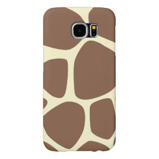 Animal Print (Giraffe Pattern) - Brown Yellow Samsung Galaxy S6 Cases