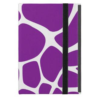 Animal Print (Giraffe Pattern) - Purple White iPad Mini Cover