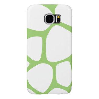 Animal Print (Giraffe Pattern) - White Green Samsung Galaxy S6 Case